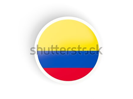 Sticker vlag Colombia geïsoleerd witte reizen Stockfoto © MikhailMishchenko
