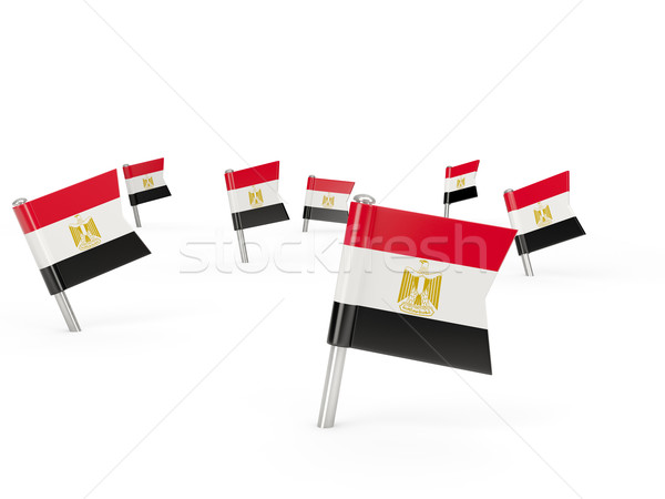 Square pins with flag of egypt Stock photo © MikhailMishchenko