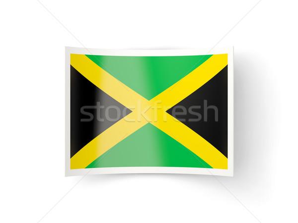 Icon vlag Jamaica geïsoleerd witte land Stockfoto © MikhailMishchenko