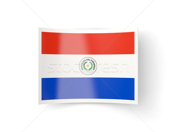Bent icon with flag of paraguay Stock photo © MikhailMishchenko