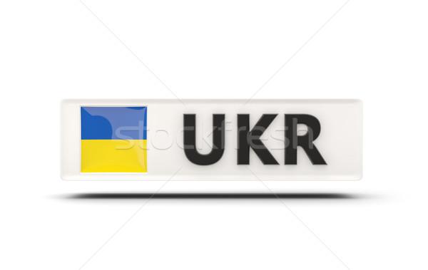 Cuadrados icono bandera Ucrania iso código Foto stock © MikhailMishchenko