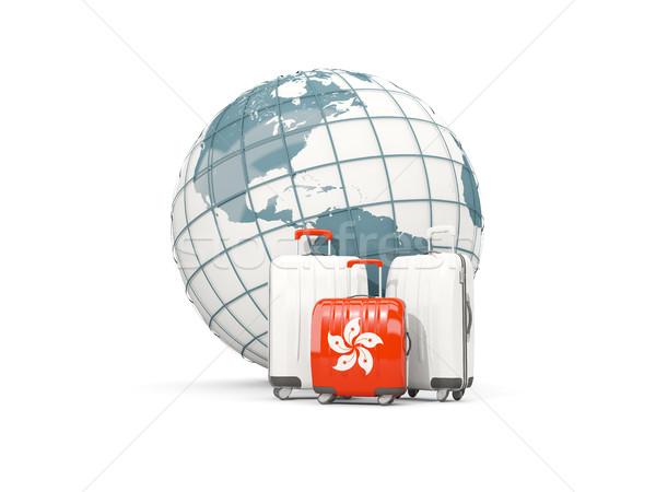 Сток-фото: Камера · флаг · три · мешки · мира · 3d · иллюстрации