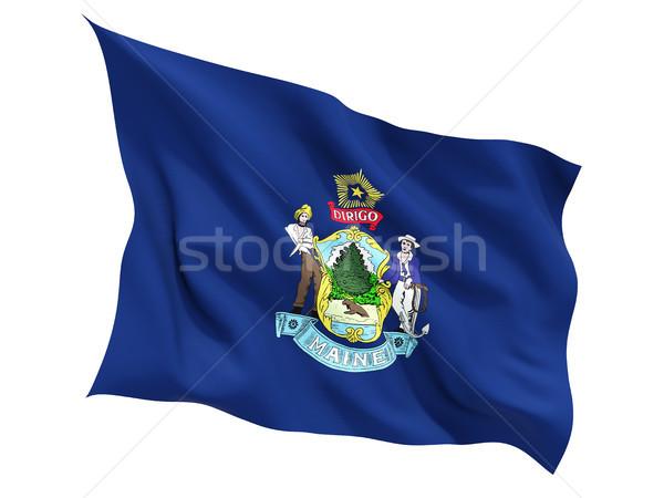 Flag of maine, US state fluttering flag Stock photo © MikhailMishchenko