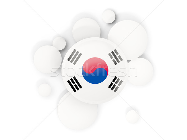 Round flag of korea south with circles pattern Stock photo © MikhailMishchenko