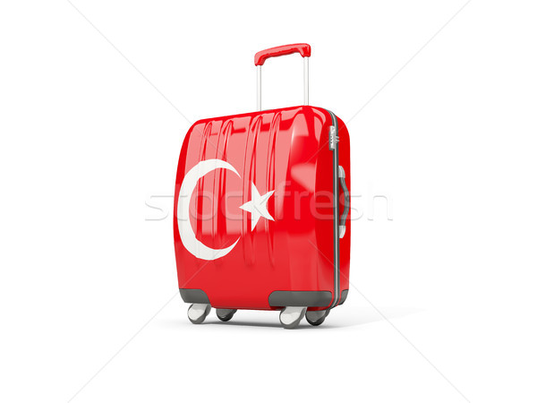 Luggage with flag of turkey. Suitcase isolated on white Stock photo © MikhailMishchenko