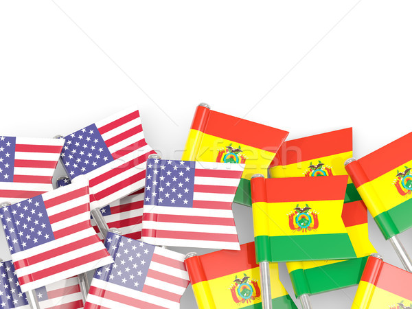 флаг США изолированный белый 3d иллюстрации Америки Сток-фото © MikhailMishchenko