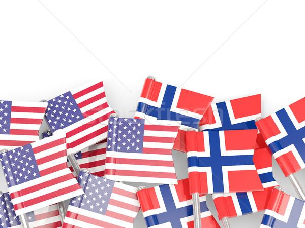 Bayrak Amerika Birleşik Devletleri yalıtılmış beyaz 3d illustration Amerika Stok fotoğraf © MikhailMishchenko
