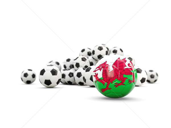 Football with flag of wales isolated on white Stock photo © MikhailMishchenko