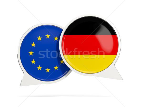 Chat burbujas ue Alemania aislado blanco Foto stock © MikhailMishchenko