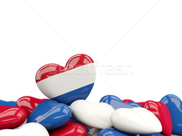 Hart vlag Nederland top harten geïsoleerd Stockfoto © MikhailMishchenko