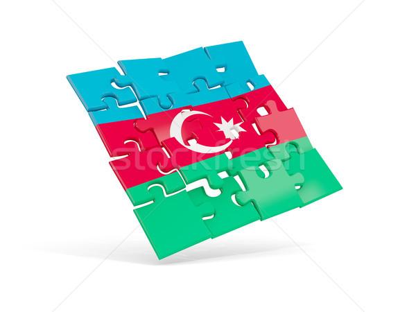 Quebra-cabeça bandeira Azerbaijão isolado branco ilustração 3d Foto stock © MikhailMishchenko