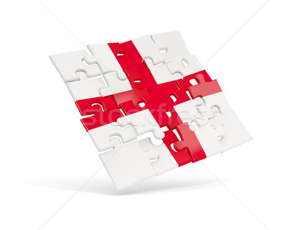 Puzzle zászló Anglia izolált fehér 3d illusztráció Stock fotó © MikhailMishchenko