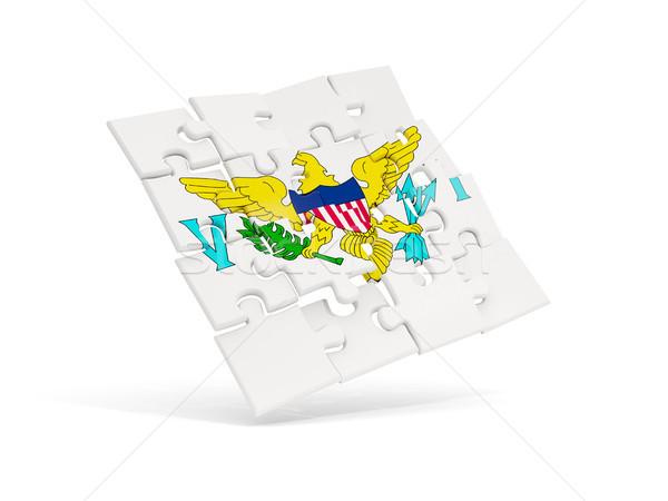 головоломки флаг Виргинские о-ва изолированный белый 3d иллюстрации Сток-фото © MikhailMishchenko