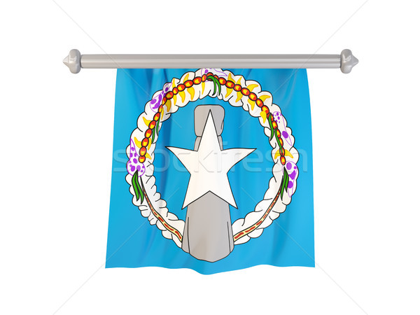 Pennant with flag of northern mariana islands Stock photo © MikhailMishchenko