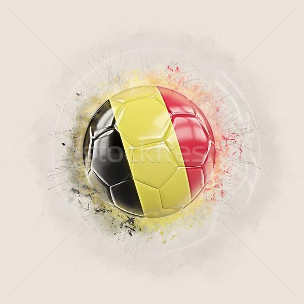 グランジ サッカー フラグ ベルギー 3次元の図 世界 ストックフォト © MikhailMishchenko