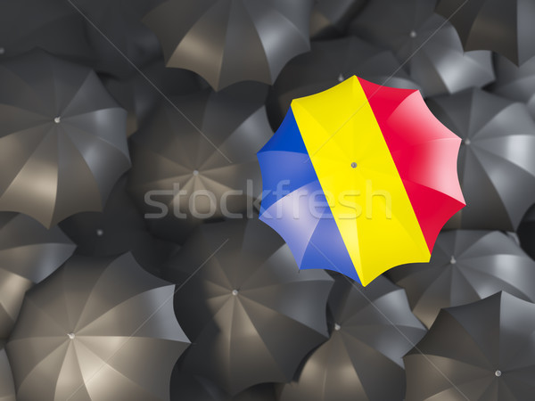 şemsiye bayrak Romanya üst siyah Stok fotoğraf © MikhailMishchenko