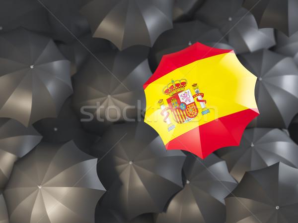зонтик флаг Испания Top черный Сток-фото © MikhailMishchenko