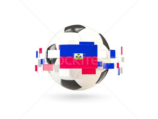 Soccer ball line bandiere bandiera Haiti Foto d'archivio © MikhailMishchenko