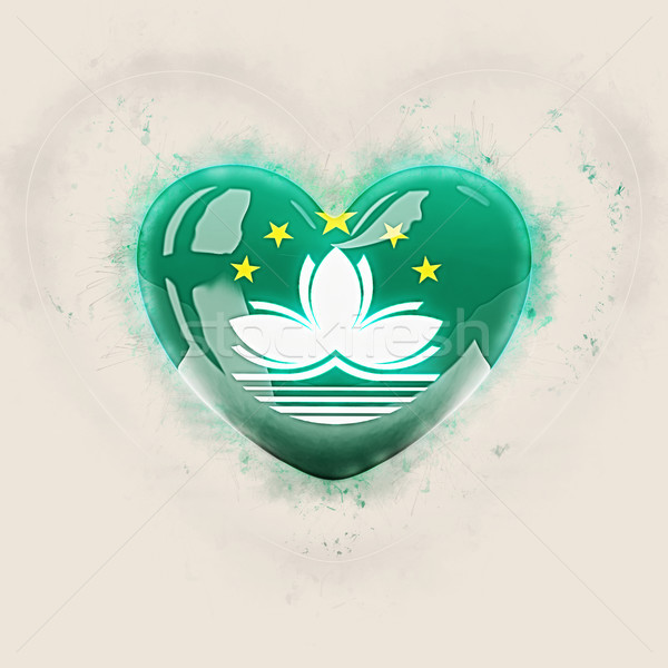 Heart with flag of macao Stock photo © MikhailMishchenko