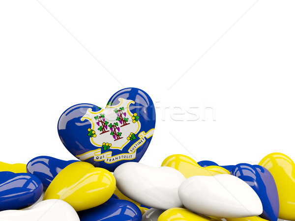 Heart shaped connecticut state flag. United states local flags Stock photo © MikhailMishchenko