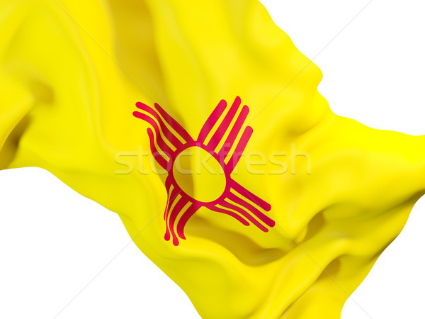 new mexico state flag close up. United states local flags Stock photo © MikhailMishchenko