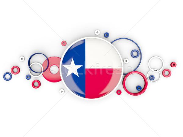 フラグ テキサス州 サークル パターン 米国 ローカル ストックフォト © MikhailMishchenko