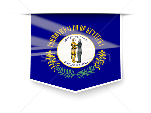 kentucky state flag square label with shadow. United states loca Stock photo © MikhailMishchenko