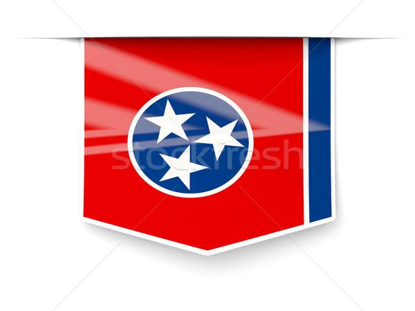 Tennessee pavillon carré étiquette ombre États-Unis Photo stock © MikhailMishchenko