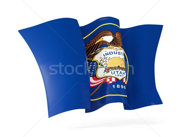 utah state flag waving icon close up. United states local flags Stock photo © MikhailMishchenko
