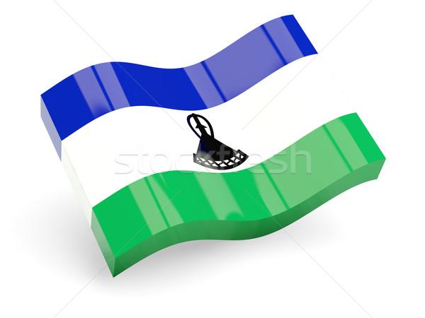 3D banderą Lesotho odizolowany biały podróży Zdjęcia stock © MikhailMishchenko