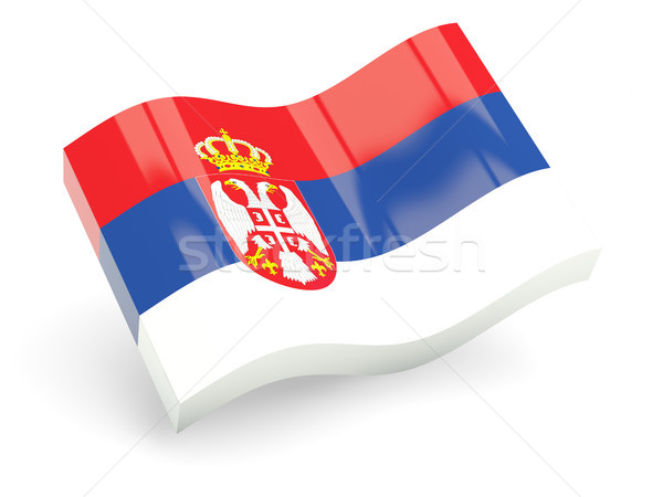 3d flag of serbia Stock photo © MikhailMishchenko