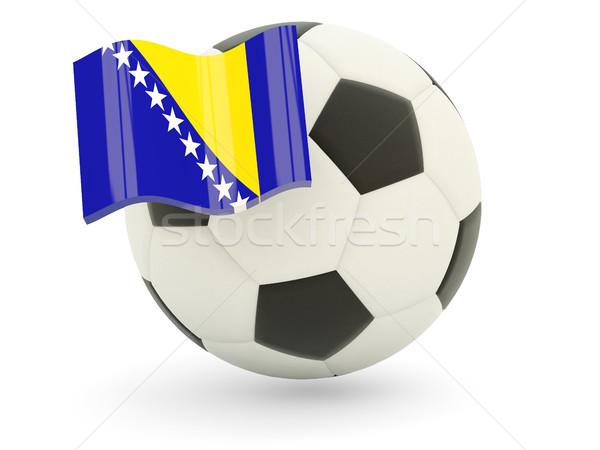 Fútbol bandera Bosnia Herzegovina aislado blanco deporte Foto stock © MikhailMishchenko
