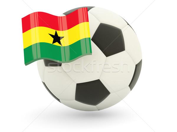 футбола флаг Гана изолированный белый спорт Сток-фото © MikhailMishchenko