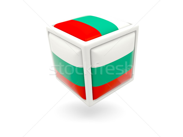 Zászló Bulgária kocka ikon izolált fehér Stock fotó © MikhailMishchenko