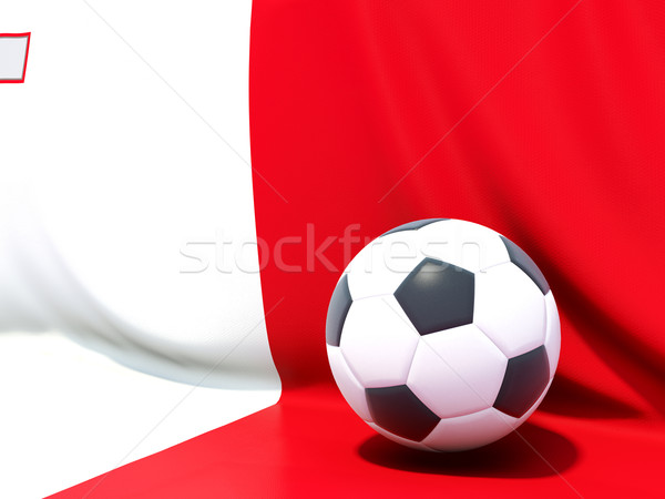 Flag of malta with football in front of it Stock photo © MikhailMishchenko