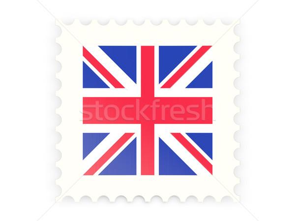 Znaczek pocztowy ikona Zjednoczone Królestwo odizolowany biały podpisania Zdjęcia stock © MikhailMishchenko