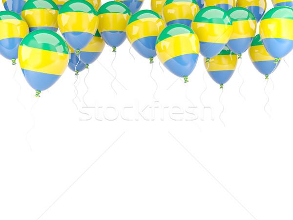 шаре кадр флаг Габон изолированный белый Сток-фото © MikhailMishchenko
