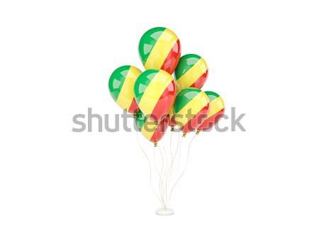 Pływające balony banderą republika Congo odizolowany Zdjęcia stock © MikhailMishchenko