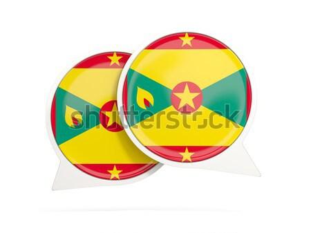 Ikon zászló Grenada fém keret utazás Stock fotó © MikhailMishchenko