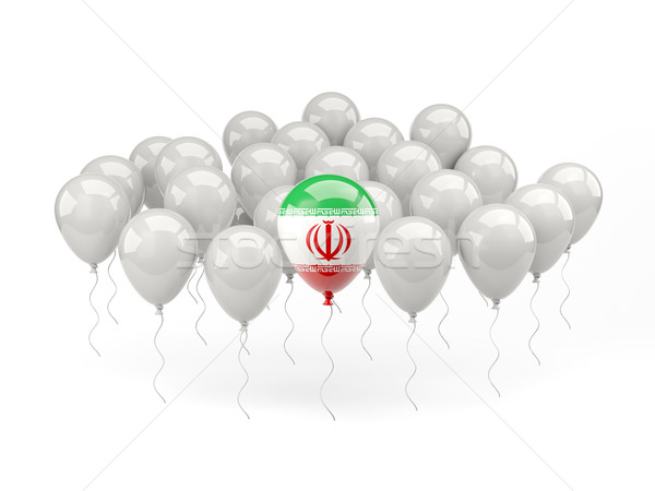Air balloons with flag of iran Stock photo © MikhailMishchenko