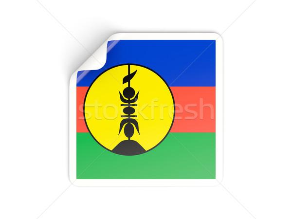 Square sticker with flag of new caledonia Stock photo © MikhailMishchenko