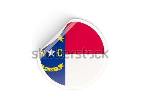 Round sticker with flag of curacao Stock photo © MikhailMishchenko