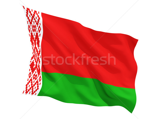 Waving flag of belarus Stock photo © MikhailMishchenko