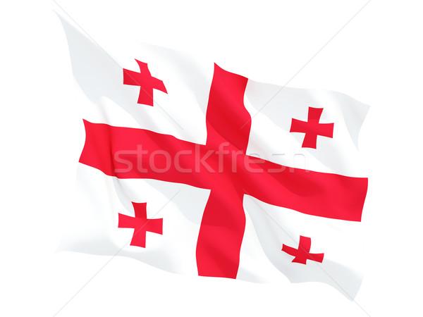 флаг Грузия изолированный белый Сток-фото © MikhailMishchenko