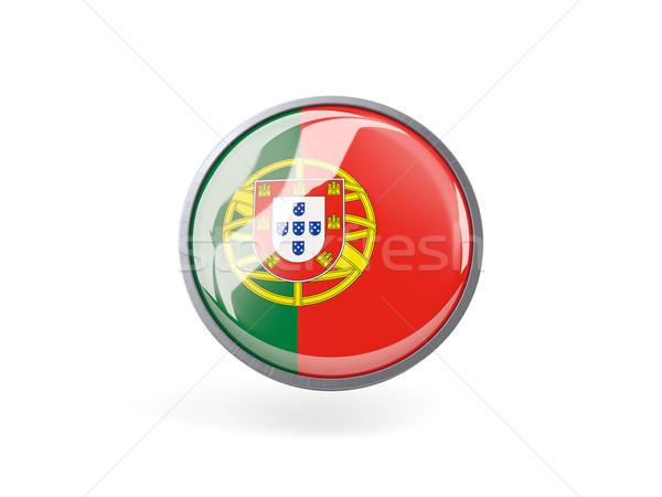 Icon vlag Portugal metaal frame reizen Stockfoto © MikhailMishchenko