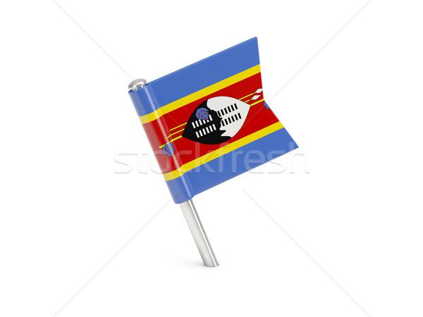Banderą pin Suazi odizolowany biały Zdjęcia stock © MikhailMishchenko
