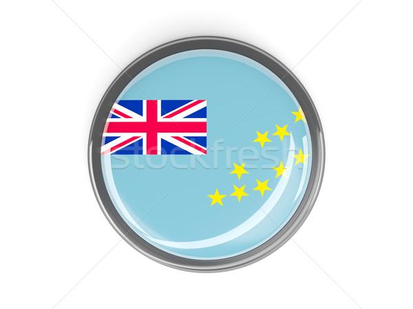 Botão bandeira Tuvalu metal quadro viajar Foto stock © MikhailMishchenko