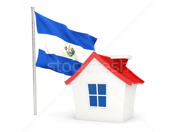 House with flag of el salvador Stock photo © MikhailMishchenko