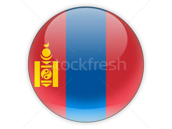 Icon vlag Mongolië geïsoleerd witte reizen Stockfoto © MikhailMishchenko