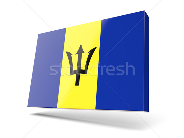 Square icon with flag of barbados Stock photo © MikhailMishchenko